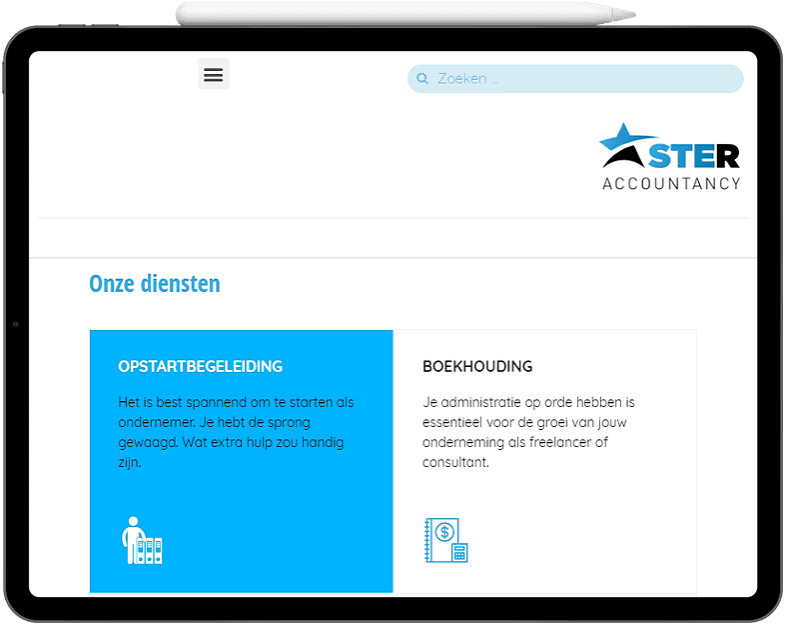 Ster Accountancy tablet