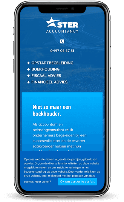Ster Accountancy smartphone